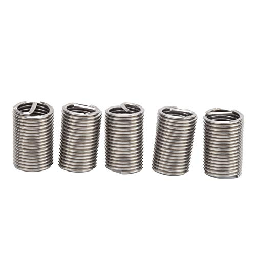 Stainless Steel Thread Inserts, 5Pcs Thread Inserts Simple To Operate for Industrial Supplies