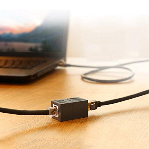 ATPWONZ 5 stück RJ45 Netzwerkkabel Verbinder Ethernet LAN Kupplung Modular Adapter für Netzwerkkabel, Ethernet Kabel, Patchkabel etc.