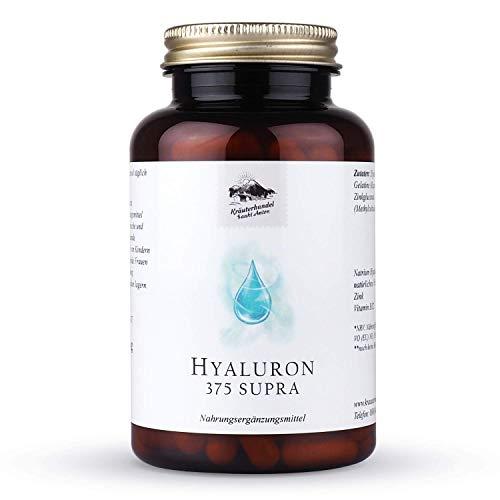 KRÄUTERHANDEL SANKT ANTON® - Hyaluron 375 Supra Kapseln - Hochdosiert - Zink - Vitamin C - B12 - Laborgeprüft - Deutsche Premium Qualität (120 Kapseln)