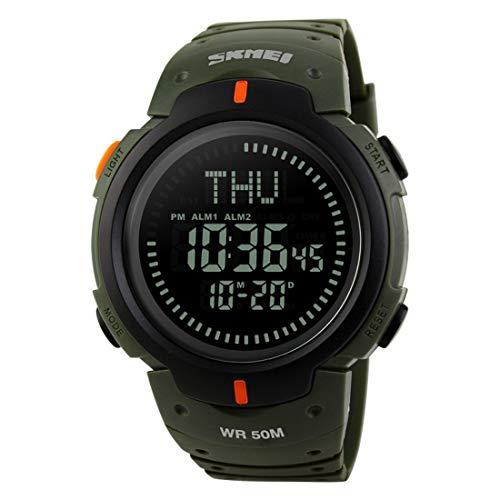 Fusanadarn Waterdichte Kompas Horloge Mannen Sport Elektronische Horloge Outdoor Bergbeklimmen Tafel Studententafel