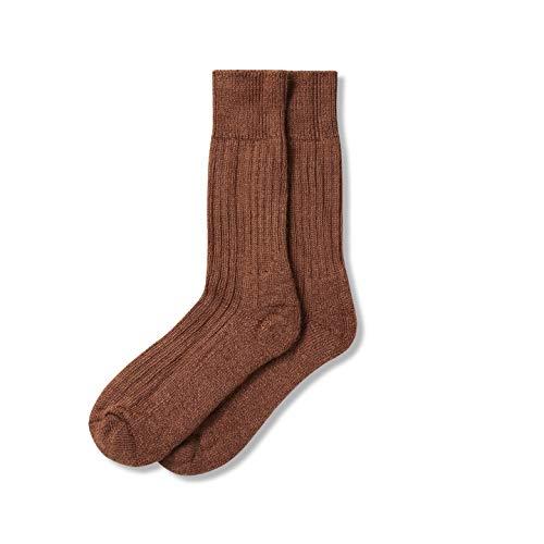 The Cambridge Sock Company Mohair Socken für Herren & Damen, luxuriöse, weiche Holkham-Socken Gr. M, Demerara