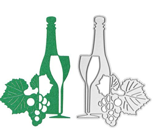 RKZM Weinflasche weinglas DIY Messer Form kohlenstoffstahl Messer Form Metall stanzen sterben vorlage Metall stanzen stirbt 6,1x9 cm