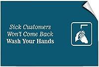 屋外の装飾、病気のお客様は戻って来ませんあなたの手を洗ってくださいビジネス、壁サインアート鉄の絵レトロな金属のプラークの装飾警告標識カフェバースーパーマーケットカフェテリアホーム