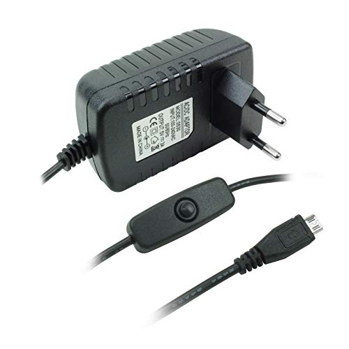 Fonte Micro USB 5V 3A com Cabo On/Off - Robótica, Green