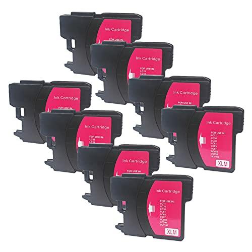 SXCD LC980 LC990 - Cartuchos de tinta para Brother (repuesto para impresora DCP-145C 165C 6690CW MFC-250C 290C 670CDW 5490CN 6890CDW, 4 colores, magenta x 8 unidades)