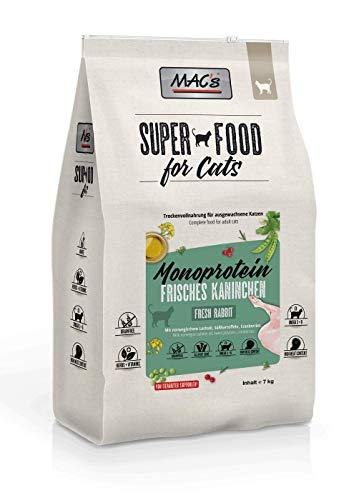Mac's Katzenfutter getreidefrei Adult Monoprotein Kaninchen, 7 kg