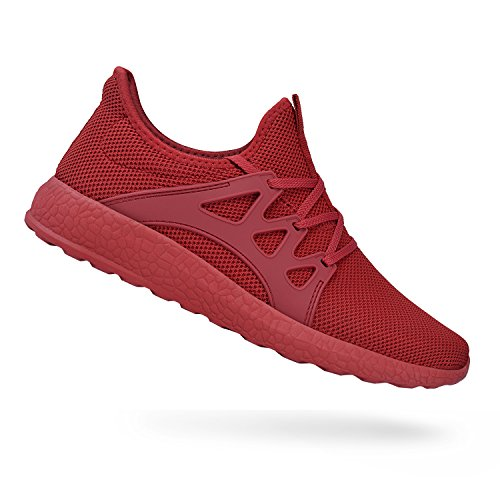 QANSI Womens Running Shoes Lightweight Breathable Athletic Tennis Sneakers Red 6