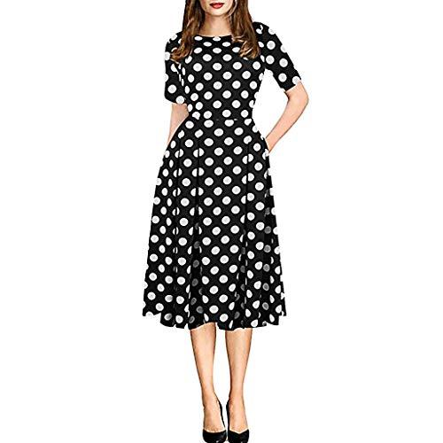 Bfmyxgs💥Rundhals Retro Stitching Flower Print Pettiskirt Kleid Rock Toto Kleid Shirt Kleid Hochzeitskleid Cocktail