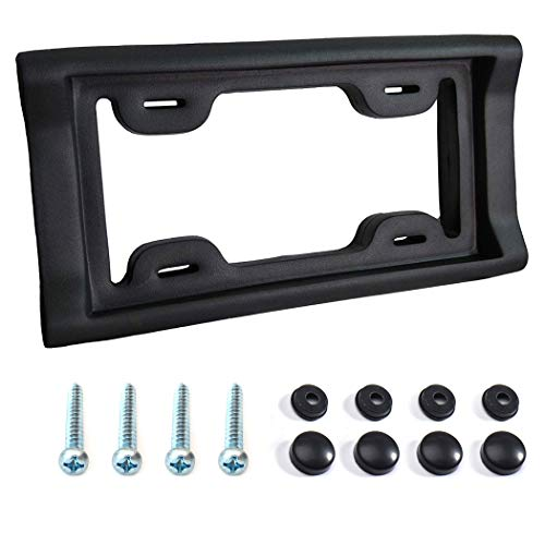 Ultimate Protective License Plate Cover and Bumper Guard | Thick, Heavy Duty Foam Prevents Scratches and Dents in Low Impact Bumps | Universal Fit for Cars,Trucks SUVs and Vans (Screws Included)