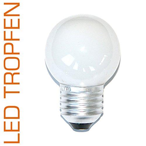LED druppels 0,8 W E27 mat extra warm wit 2200 K kunststof ook voor gebruik buitenshuis