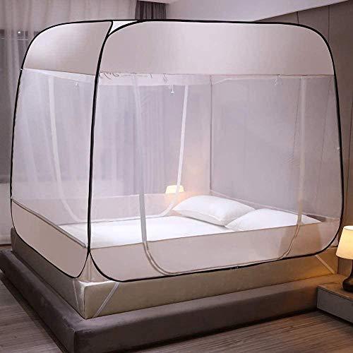 CQLXZ Tragbare Jurte Moskitonetz Insektenbekämpfung Großes Zelt 3 Türen Klappbarer Bettvorhang Outdoor Camping Reisen Atmungsaktiv Winddicht-180 * 200 cm_B.