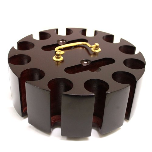 PSS Deluxe 300 Chip Capacity Wooden Carousel with Lid - Fits up to 300 Chips & 2 Decks of Cards!