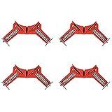 4 Piezas Abrazadera de ángulo Recto,Abrazadera de ángulo Recto de 90 Grados, Rojos, (10,0 cm * 5,0 cm * 5,0 cm), Abrazadera de Esquina A Inglete Madera Marco de Imagen para Trabajar Madera
