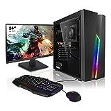 "Megaport PC Completo AMD Athlon 3000G 2x 3.50GHz • Nvidia GeForce GT1030 • Schermo Full-HD LED 24"" • Tastiera/Mouse • Windows 10 • 1000GB HDD • 8GB RAM"
