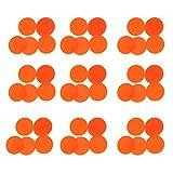 Healifty Fichas de Conteo de Plástico de 100 Piezas Fichas de Bingo de Plástico Rebanadas Redondas Contadores de Juegos de Matemáticas para Barra de Sala de Juegos Escolares (Naranja)