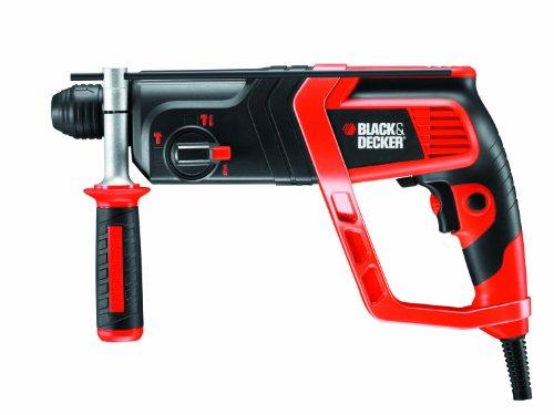 Preisvergleich Produktbild Black+Decker Pneumatischer SDS-Bohrhammer (800W,  Meißelhammer mit 2.2J Schlagenergie,  Zweithandgriff,  Hammerbohren,  zum Bohren und Meißeln,  Rechts- / Linkslauf,  inklusive Koffer und Zubehör) KD985KA
