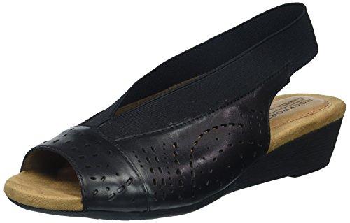 Cobb Hill Judson Peep Sling Pumpe für Damen, Schwarz (schwarzes Leder), 38.5 EU