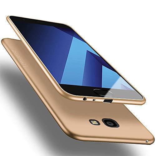 X-level Samsung Galaxy A3 2017 Hülle, [Guardian Serie] Soft Flex Silikon Premium TPU Echtes Telefongefühl Handyhülle Schutzhülle für Galaxy A3 2017 Case Cover - Gold