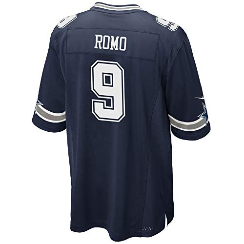 Dallas Cowboys Mens NFL Nike Game Jersey, Tony Romo, X-Large, Navy