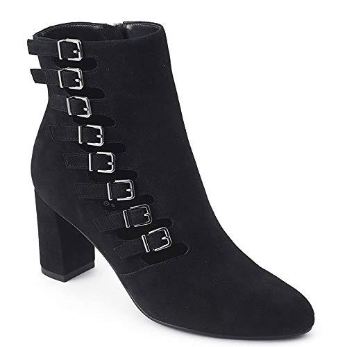 David Tate Womens Mood Leather Heeled Dress Boots Black 10 Narrow (AA,N)