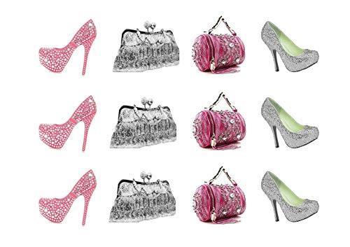 Tortendekoration, mit Glitzersteinen, für Handtaschen/Schuhe, essbar, für Zuckerguss
