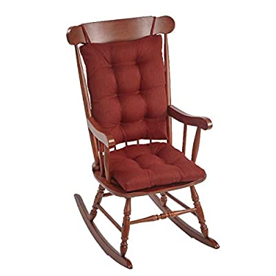 The Gripper Non-Slip Omega Jumbo Rocking Chair Cushions, Flame