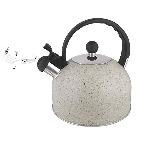 Stronrive Hervidor De Agua con Silbido, Apto para Induccion, Hornillo, 2,3 litros – Acero Inoxidable