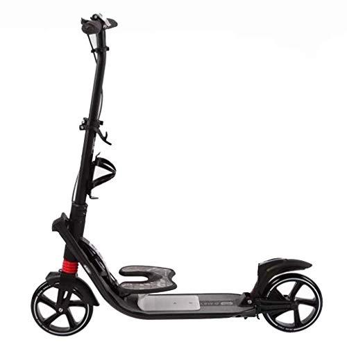 Scooter de pie Todas Aluminio Doble absorción de choque plegable de dos ruedas Scooter pie clásico de freno, Vespa niños y adolescentes que absorbe los golpes plegable de dos ruedas, no eléctricos, Sc