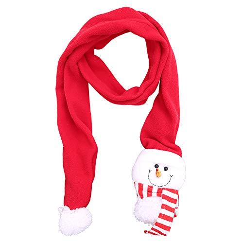 Topdo Bufanda de Navidad Otoño e Invierno Caliente Scarf la de Moda Capucha Cuello Suave Chal Bufanda pañuelo para Mujer Hombre Unisex Paño Cepillado 1 Pieza Muñeco de Nieve 130 * 33 * 67cm