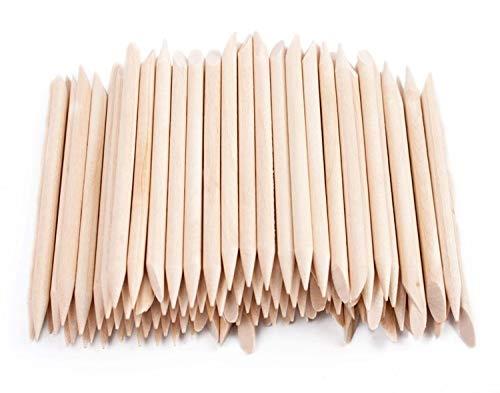 Natury Nails 15 piezas de Palos de Madera de Naranjo de 7.5cm para Manicura, Pedicura, Nail Art y Manualidades