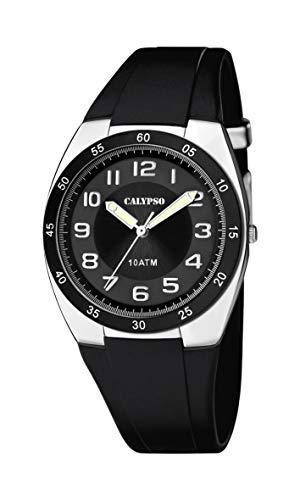 Calypso Herren Analog Quarz Uhr mit Plastik Armband K5753/6