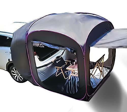 Waterproof Rooftop Car Sun Shelter SUV Tailgate Tent Outside Camping Tents for Beach Picnic Fishing Hike(6.5FT)