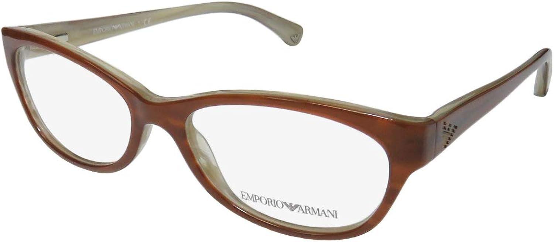 Emporio Armani EA3008 Eyeglasses5054 Brown Variegated Cream53mm