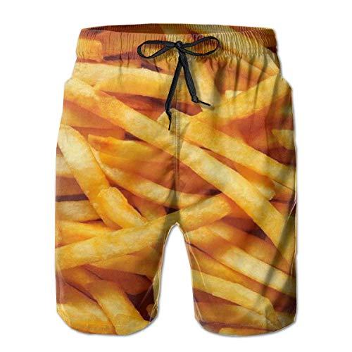 akingstore Mens-Pommes-Frites-beiläufige Strand-Arbeitshosen, Sommer-Schwimmen-Badehose-schnelle trockene surfende Kurzschluss-Hosen