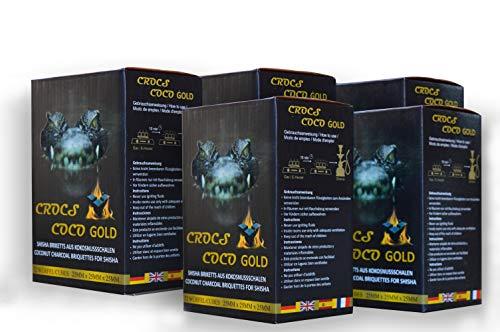 Crocs Coco Shisha Kohle Gold 5kg