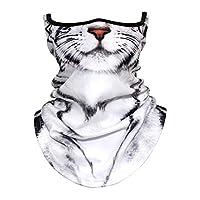 フェイスマスク 3D動物柄 ネックカバー 面白いです フェイスガード フェイスカバー バンダナ UVカット バイクマスク ネックゲートル フェイスマスク 日焼け防止 冷感 吸汗速乾 呼吸しやすい 多機能 夏 男女兼用 (フリーサイズ, 35#)