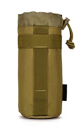 Yakmoo Taktischer Flaschenhalter 550ml/800ml/1000ml Wasserdichter Trinkflaschenbeutel Molle System 1000D Nylon Wasserflaschenhalter Bottle Carrier für Outdoors