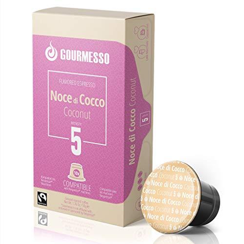 Gourmesso Soffio noce Di Cocco (Kokos) - 30 Nespresso kompatible Kaffeekapseln - Fairtrade