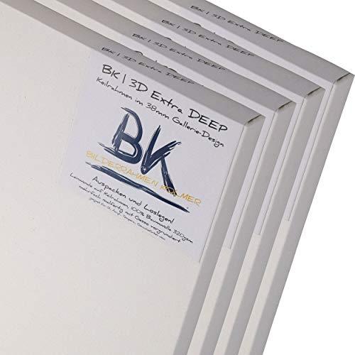 DESIGN DELIGHTS 4 tele bianche con bordi profondi di alta qualità, 30 x 40 cm