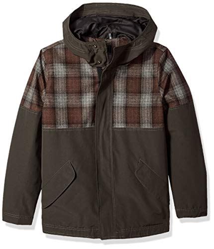 Pendleton Outerwear Men's Carver Mount Hood Flannel Wool Hoodie Jacket, Pendleton Iconic Blue/Brown Plaid, Medium