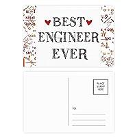 これまでに最高のエンジニアを引用する職業 公式ポストカードセットサンクスカード郵送側20個