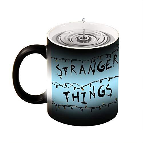 Taza mágica sensible al calor Stranger Things azul divertido cambio de color taza taza de café taza de 11 oz