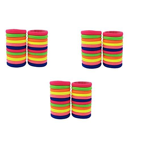 Evogirl Rubber Bands Elastische Geen Metaal Dagelijks Draag Haarbanden Fluoroscent Neon schaduw, Klein, Voor Vrouwen/Meisjes