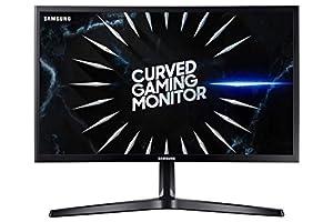 Monitor gaming curvo Samsung C24RG52 de 24'' FullHD (1920x1080) con curvatura 18000R que, junto con la tasa de refresco de 144 Hz, proporciona una experiencia inmersiva a la hora de jugar La tecnología AMD FreeSync consigue una experiencia de juego s...