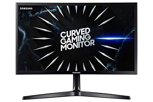 Samsung C24RG52FQU Monitor Gaming Curvo da 24 pollici, Full HD,1800R, 144 Hz, Freesync, 4 ms, Display port, 2 HDMI, Nero