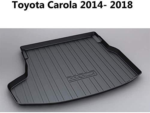 QIANSHI Trunk mat Trunk Mat Cargo Tray Liner- Custom Tailored for To-yota Carola 2014-2018, 1Pcs,Black,Colour:Black Rear luggage cushion (Color : Black)