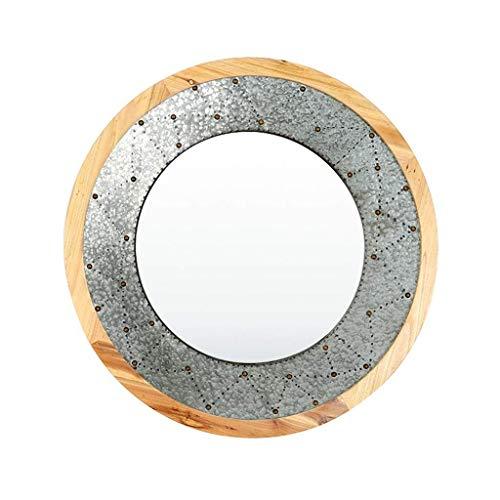 outingStarcase Llevado Espejo de Maquillaje Espejo de Maquillaje cosmético del Espejo encimera, Estilo Simple HD Vanidad de Madera del Espejo Plegable portátil for Estudiante Dormitorio Dormitorio de