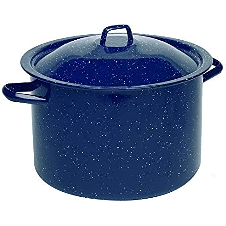 Enamel Coated Saucepan Soup Milk Pan 14cm Pot Camping Cooking Beige 900ml New