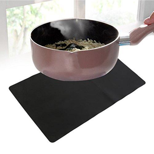 Generic Tapis en Silicone 36.3 * 21.5 cm Cuisson Liner Tapis de Four en Silicone Isolation Thermique Pad Bakeware Kid de Table Noir