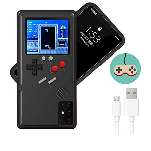 Game Console Case for Galaxy,Dikkar Retro Protective Cover Self-Powered Case,Color Display with 36 Small Game,Shockproof Video Game Case with USB Charging Cable for Galaxy S10/20/Note10/20/Plus/Ultra